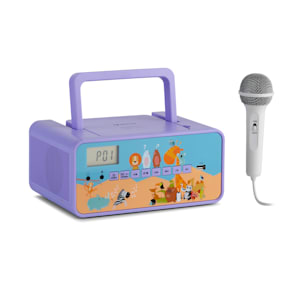 Kidsbox Zoo CD Boombox CD-Player BT USB LC-Display Tiere