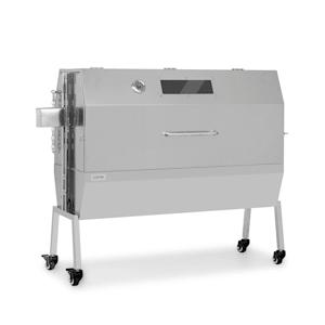Sauenland Pro XL barbecue à cochon de lait rôtissoire 15 W 4 roulettes inox