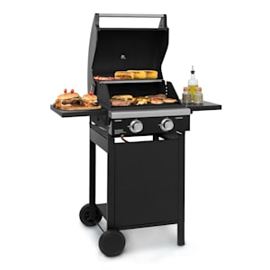 Valdosta 2.0 gasbarbecue 2x3,6kW brander rvs