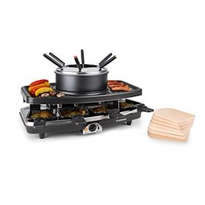 Entrecote, grill raclette/fodnue 2 w 1, kamień naturalny, 1100 W, na 8 osób, podstawka