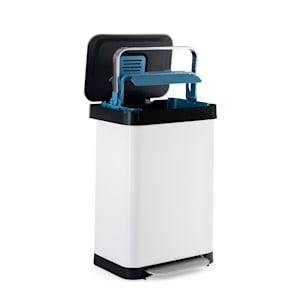 Trash Inn Tretmülleimer Mülleimer | 50 Liter Volumen | OdorControl: mit Geruchsfilter | Gehäuse aus Edelstahl | praktische Müllbeutelhalterung | Edelstahl-Kompaktorgriff | Tretmechanismus