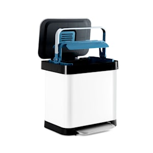 Trash Inn Tretmülleimer Mülleimer | 30 Liter Volumen | OdorControl: mit Geruchsfilter | Gehäuse aus Edelstahl | praktische Müllbeutelhalterung | Edelstahl-Kompaktorgriff | Tretmechanismus