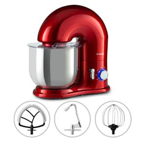 Robot de cuisine Delfino | 1800 watts | 6 vitesses | Fonction d'impulsion | Système de mélange planétaire | Bol en acier inoxydable de 7 l | Crochet de mélange et de pâte ainsi que fouet | Plastique | Fonte d'aluminium | Acier inoxydable