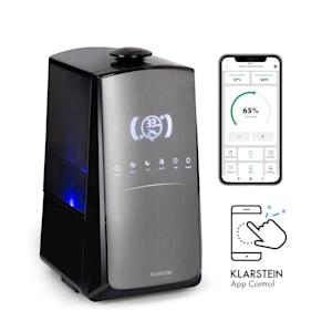 VapoAir Opal Smart Luftbefeuchter | WiFi: Steuerung per Klarstein App | LED-Screen | 7 Verneblerstufen | Auto-, Heiz-, Gesundheits-, Baby-, Nacht- und Timer-Funktion | Ionisator | Keramikfilter | Aroma-Diffusor | Autostopp-Funktion | Touch-Bedienfeld