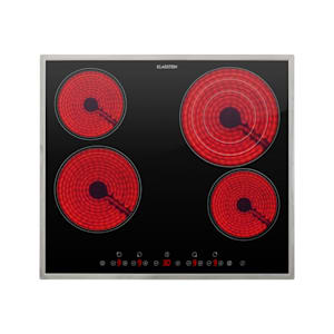 Virtuosa 4 Prime, piano cottura a incasso, 4 zone, 6500W, vetroceramica, telaio in acciaio inox