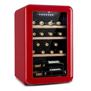 Vinetage 19 Uno Weinkühlschrank | 70 Liter / 19 Flaschen |  Temperatur: 4-22 °C | Kompressor | 2 Holzregalebenen | LED-Beleuchtung |  UV-Schutz | Weinkühler | Klein | Freistehend