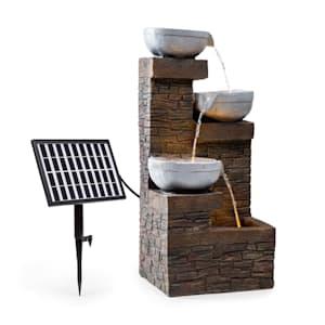 Fez Solar Fountain, LED, 34 x 76 x 36 cm (WxHxD), Polyresin
