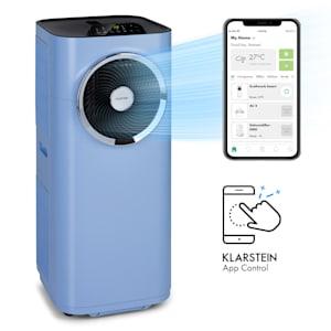 Kraftwerk Smart 10K Klimaanlage | 3-in-1: Kühlung, Entfeuchtung, Ventilator | EEC A | 10.000 BTU / 2,9 kW | WiFi: App-Steuerung | bis 49 m² | Entfeuchtung: 23 Ltr./Tag | 440 m³/h | mobil | min./max. 48/65 dB | Timer | Fernbedienung | Fensterabdichtungsset