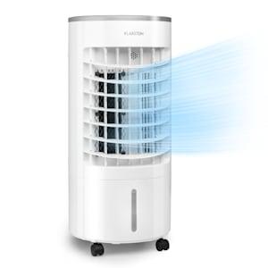 Skypillar 3-in-1 Luftkühler | Luftkühler / Ventilator /  Luftbefeuchter | Luftumwälzung: 228 m³/h | topseitiger Wassertank: 5 L | Oszillation  | 3 Geschwindigkeiten | 3 Betriebsmodi | mobil mit Rollen | 65 Watt | Fernbedienung