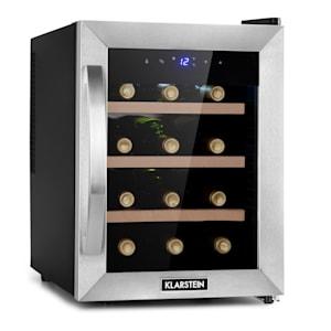 Reserva 12 Uno Vinkylskåp | 31 liter | 12 flaskor | temperatur: 11-18 °C | 70 watt | tystlåtet: 26 dB | 3 trähyllplan | LED-belysning | UV-skydd | vinkylare | touch | fristående / Counter Top | ädelstål