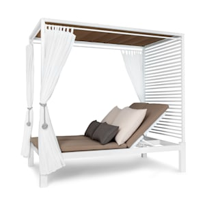 Eremitage Double Lux Sunbed 4 reclining positions 2 persons 6 cm cushion