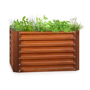 Rust Grow Hochbeet Gartenbeet verzinktes Stahlblech Rost-Finish