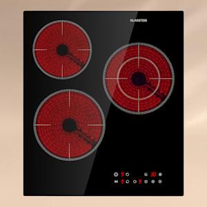Virtuosa 3 Slim, tűzhely, 3 főzőlap, 5000 W, Dualzone, időzítő, kerámia