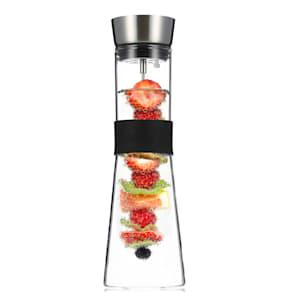 Sile Karaff 1 liter borosilikatglas fruktspett med stopp