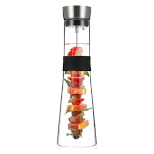 Sile Karaff 1,6 liter borosilikatglas fruktspett med stopp