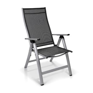 London, Garden Chair, Textilene, Aluminium, 6-Position, Foldable