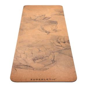 Tapis de yoga Nyasa, 183x0,4x61 cm, caoutchouc naturel et liège, Lotus