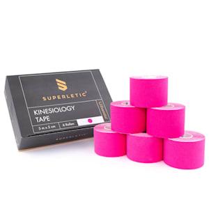 Elek Kinesio-Tape 6 Rollen 5 m x 5 cm Baumwolle und  Acrylkleber wasserfest