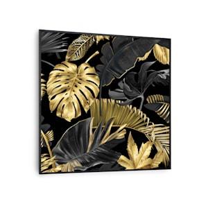 Wonderwall Air Art Smart radiateur infrarouge connecté   panneau chauffant mural  60x60 cm   350 W   7 m²   look design   appli de commande  silencieux  télécommande   pour allergiques   thermostat   minuterie hebdo   IP44   déco fleur noire   cadre noir