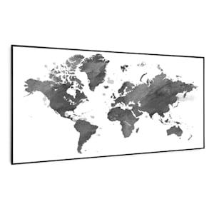 Wonderwall Air Art Smart Infrarotheizung | heizpaneel | 120x60cm  | 700 W | 14 m² | Design-Front | App-Steuerung | geräuschlos | Wandmontage |  Fernbedienung | für Allergiker | Thermostat | Wochentimer | IP44 | Motiv:  Schwarze Karte