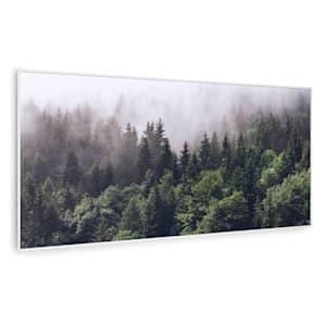 Wonderwall Air Art Smart Infrarotheizung | heizpaneel | 120x60cm  | 700 W | 14 m² | Design-Front | App-Steuerung | geräuschlos | Wandmontage |  Fernbedienung | für Allergiker | Thermostat | Wochentimer  | IP44 | Motiv: Wald
