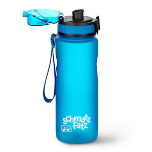 schmatzfatz Trinkflasche Sportflasche| 500 ml | kinderfreundlich  | auslaufsicher | mit Fruchtaufsatz | Höhe: 24 cm | Durchmesser: 7 cm | mit  Trageband | Kunststoff | BPA-frei