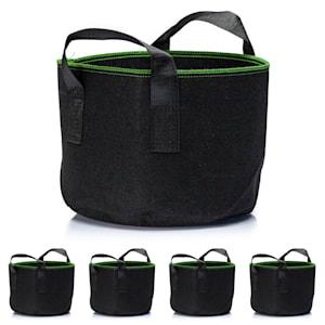 Plant bag set 5-piece 60 litres fleece with handle