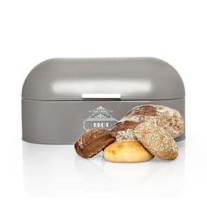 Metalowy pojemnik na chleb, z uchwytem drewnianym, blacha metalowa, zachowuje aromat pieczywa, stylistyka retro