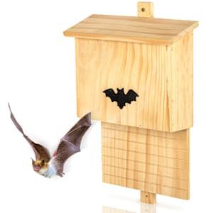 Bat house nesting box wintering aid habitable all year pine wood
