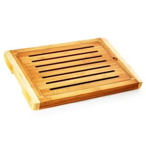 Tagliere con vano per briciole bambù 38 x 3 x 25,5 cm (LxAxP)   Riciclabile