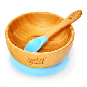 Vajilla para niños con bol de bambú y cuchara de 400 ml incl. ventosa Ø: 13,7 cm