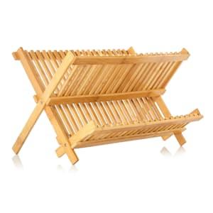Ociekacz składany, bambus 2 półki po 16 kratek, niewrażliwy na wodę, mały