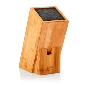 Bloc à couteaux incliné | matériau: bambou | innovant,  insert amovible à poils | pour 5 à 10couteaux