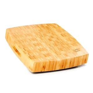 Bambusové prkénko na sekání, 30 x 6,8 x 30 (Š x V x H), nožičky, rukojeť, snadná údržba