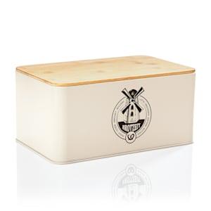 Stigby 2-in-1 corbeille à pain avec planche à découper tôle bambou