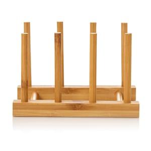 Prosta kratka ociekowa, 100 % bambus, 14 x 12 x 10,5 cm, wodoodporna