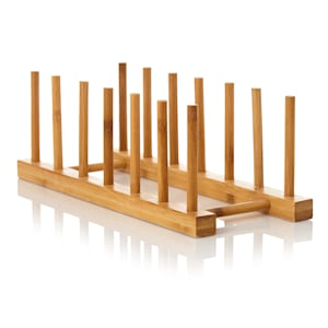 Prosta kratka ociekowa, 100% bambus, 30 x 11,5 x 10,5 cm, wodoodporna
