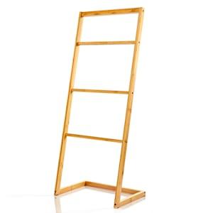 Towel holder 4-fold towel rail 40 x 98 x 28 cm ladder look bamboo