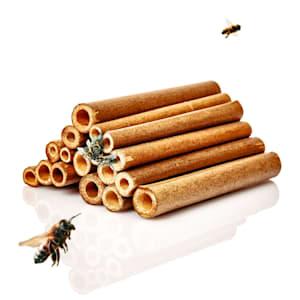 Tubicini di bambù, 70 pezzi, 10 cm di lunghezza ciascuno, color legno