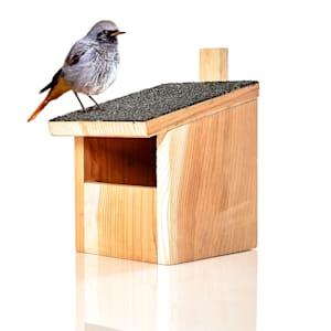 Nesting box for half-cave breeders hanger asphalt roof red cedar wood