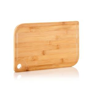 Batvik Planche à découper en bambou de 38 x 1,5 x 27 cm (LxHxP) adaptée aux couteaux rainure à jus