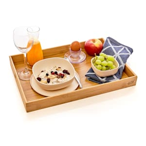 Bed tray serving tray light 42.5 x 4.5 x 29 cm  sustainable bamboo