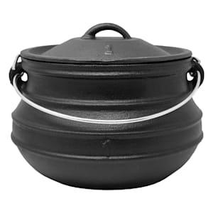 Beefalo - Potjie, pentola sudafricana per brasati | Su carbonella, fuoco o griglie a gas | Forma: rotonda | Con coperchio | Ghisa | Misura S: 3 litri