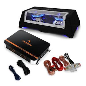 Car Sound System 'Black Line 100' Subwoofer Amplifier 1400W Set