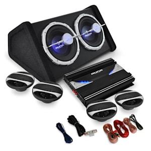 4.1 Car Audio HiFi System 'Black Line 500' Amplifier, Speaker Set