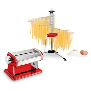 Pasta Set machine à pâtes Siena rouge & séchoir à pâtes Verona
