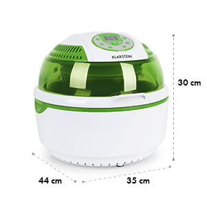 VitAir Green Bundle Set 1400W Hot-Air Fryer 9L Rotary Spit Rotator
