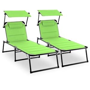 Amalfi Juicy Lime Sun Lounger 2-piece Set Padding Steel Pipe Green