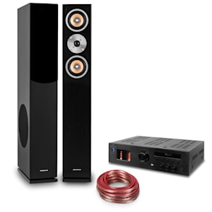 Hifi Set 'Music Glow' | Stand Speakers | Tube Hifi Amplifier | Cable