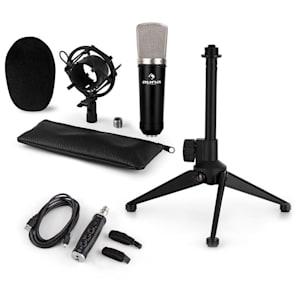CM003 Microphone Set V1 Condenser Microphone USB Converter Microphone Stand